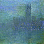 Claude Oscar Monet - Houses of Parlilament, Fog Effect