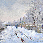 Клод Оскар Моне - Snow Scene at Argenteuil