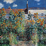 The Artist's Garden at Vetheuil, Claude Oscar Monet