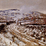 Train in the Snow, Argenteuil, Claude Oscar Monet