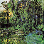 Weeping Willow and Water-Lily Pond, Claude Oscar Monet