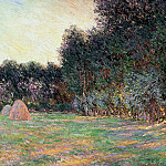 Meadow with Haystacks near Giverny, Claude Oscar Monet