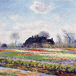 Tulip Fields at Sassenheim, Near Leiden, Claude Oscar Monet