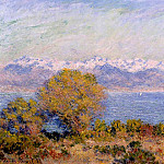 The Alps Seen from Cap d'Antibes, Claude Oscar Monet