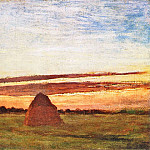 Grainstacks at Chailly at Sunrise, Claude Oscar Monet