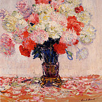 Vase of Peonies, Claude Oscar Monet