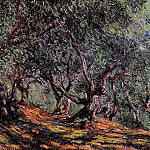 Olive Trees in Bordigher, Claude Oscar Monet
