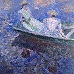 Young Girls in a Row Boat, Claude Oscar Monet