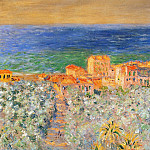 Burgo Marina at Bordighera, Claude Oscar Monet