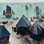 Claude Oscar Monet - The Departure of the Boats, Etretat