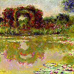 Claude Oscar Monet - Rose Arches at Giverny
