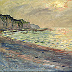 Pourville, Sunset, Claude Oscar Monet