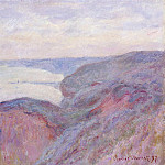 Cliff near Dieppe, Overcast Skies, Claude Oscar Monet