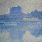 The Church of Vernon in the Mist, Claude Oscar Monet