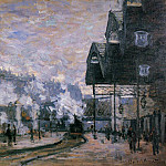 Claude Oscar Monet - Saint-Lazare Station, the Western Region Goods Sheds
