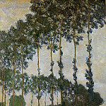 Poplars near Giverny, Claude Oscar Monet