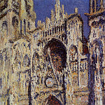 Rouen Cathedral, the Portal and the Tour d'Albane, Full Sunlight, Claude Oscar Monet