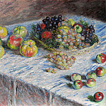 Still Life - Apples and Grapes, Клод Оскар Моне