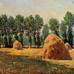 Haystacks at Giverny, Claude Oscar Monet
