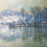 Клод Оскар Моне - The Seine at Port Villez, Snow Effect