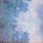 Morning on the Seine, Mist, Claude Oscar Monet