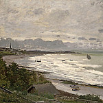 Claude Oscar Monet - The Beach at Saint-Adresse