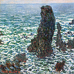 The 'Pyramids' of Port Coton, Belle-Ile-en-Mer, Claude Oscar Monet
