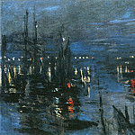 The Port of Le Havre, Night Effect, Claude Oscar Monet