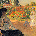 Camille Monet in the Garden, Клод Оскар Моне