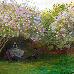 Lilacs, Grey Weather, Claude Oscar Monet