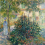Camille Monet in the Garden at the House in Argenteuil, Claude Oscar Monet