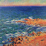 Claude Oscar Monet - The 'Big Blue' Sea in Antibes