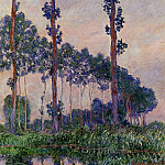 Claude Oscar Monet - Three Trees in Grey Weather