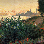 Argenteuil, Flowers by the Riverbank, Claude Oscar Monet