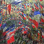 The Rue Montargueil with Flags, Клод Оскар Моне
