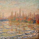 Floating Ice on the Seine 02, Claude Oscar Monet