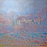 Claude Oscar Monet - Houses at Falaise in the Fog
