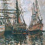 Boats on Rapair, Клод Оскар Моне