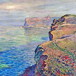 Cliff at Grainval near Fecamp, Claude Oscar Monet