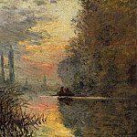 Claude Oscar Monet - Evening at Argenteuil