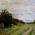 Lane in the Vineyards at Argenteuil, Клод Оскар Моне