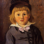 Portrait of Jean Monet Wearing a Hat with a Pompom, Клод Оскар Моне