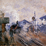 Claude Oscar Monet - Saint-Lazare Station, Track Coming out