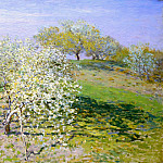 Apple Trees in Bloom, Claude Oscar Monet
