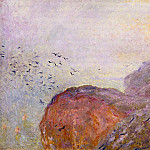 Claude Oscar Monet - Cliff near Dieppe