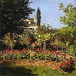 Claude Oscar Monet - Garden in Bloom at Sainte-Addresse, 1866. JPG