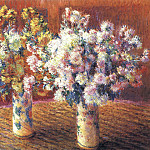 Claude Oscar Monet - Two Vases with Chrysanthems
