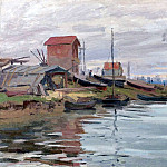 The Seine at Petit Gennevilliers, Клод Оскар Моне