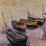 Boats on the Beach, Claude Oscar Monet