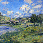 Vetheuil, Paysage, Клод Оскар Моне